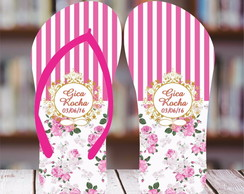 Chinelo 15 anos Floral Pink