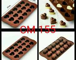 Molde de silicone chocolate doces