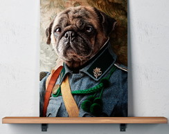 Quadro Decorativo 30x40 General Pug