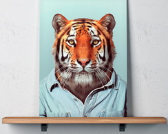 Quadro Decorativo 30x40 Retrato Tigre