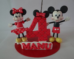 Vela mini topo de bolo Mickey e Minnie
