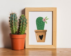 Poster Love & Cactus - Digital A4