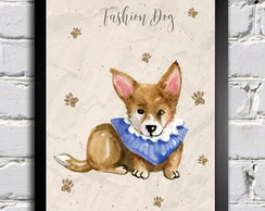 Poster com moldura Fashion Dog 2