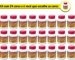 Tinta PVA Fosca com 100ML KIT COM 24