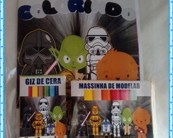 kit colorir com Giz, Massinha Star Wars