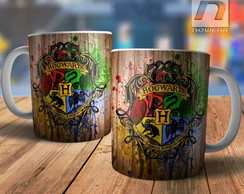 Caneca Hogwarts Filme Harry Potter