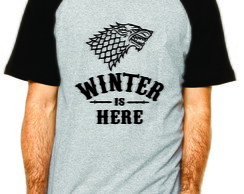 Camiseta Winter is Here Casa Stark