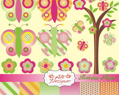 Kit Scrapbook Digital - Borboletas