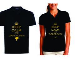 Camiseta Polo Keep Calm and Derepente 30 - 2 unidades - NG