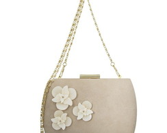 Clutch Flowers Nude