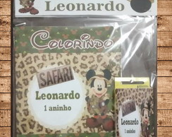 kit colorir mickei safari