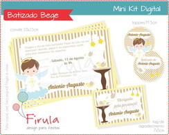 Mini Kit Digital Batizado Bege