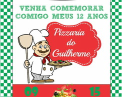Convite virtual festa pizzaria