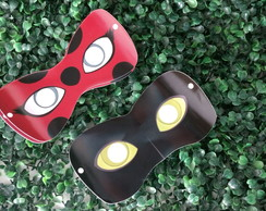 Máscara lady bug e cat noir
