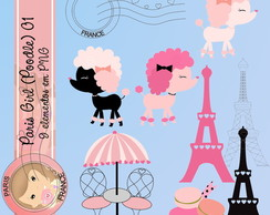 PARIS - GIRL POODLE 1 (Kit digital)
