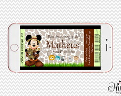 CONVITE DIGITAL - MICKEY SAFARI INGRESSO
