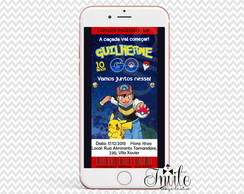 Convite Digital - Pokemon GO INGRESSO
