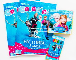 Kit Colorir com Massinha Frozen