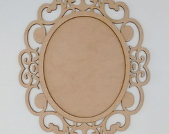 PLACA OVAL ARABESCO MDF