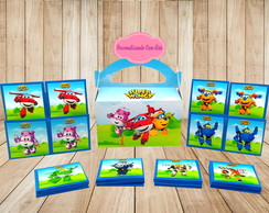 enfeite de aniversario Super Wings