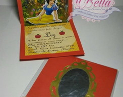 convite Branca de Neve pop up