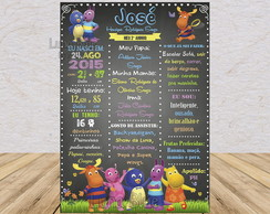Chalkboard Backyardigans - Arte Digital
