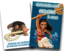 revista de colorir moana 14x10