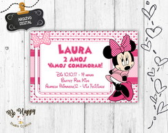 Convite digital festa da minnie rosa