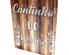 Placa Decorativa Gift Churrasco