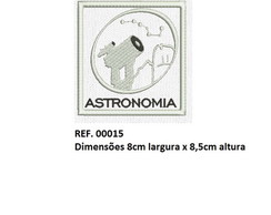 Patch Bordado Termocolante Astronomia