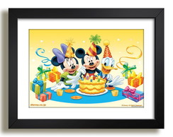 Quadro Mickey Minnie Pato Donald F51