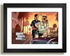 Quadro Games GTA Arte Decoracao F51