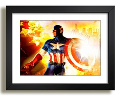 Quadro Capitao America Herois Decor F51
