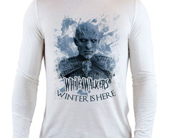 Camiseta Branca Longa GoT White Walkers