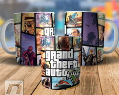 Caneca Gta V Grand Theft Auto 5