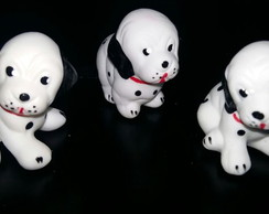 Kit Decorativo Porcelanas - Cachorrinhos