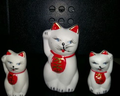 Kit Decorativo Porcelanas - Gatos 1