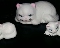 Kit Decorativo Porcelanas - Gatos 2