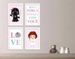 Star Wars Kit Quadros Baby