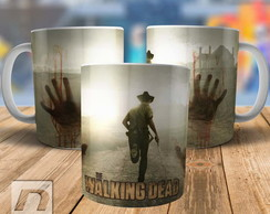 Caneca Rick The Walking Dead Série TWD