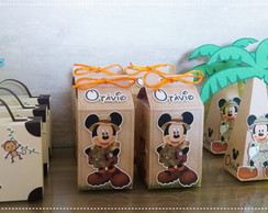 Kit Papelaria Mickey Safari