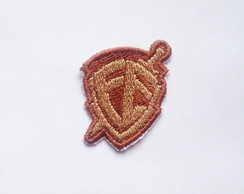 Patch Bordado Mini Escudo da Fé