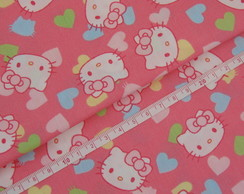 Tricoline Digital - Hello Kitty Corações