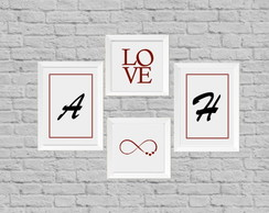 Quadro decor love infinito
