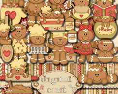 Kit Scrapbook Digital - Cookies
