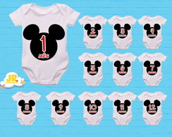 Kit Body Mesversário Mickey