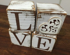 Cubos decorativos LOVE