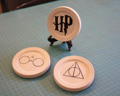 Kit 3 Quadrinhos de Concreto HarryPotter