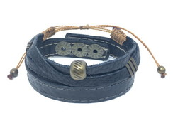 Kit de Pulseiras Leather Metal