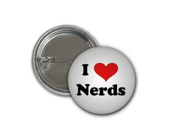 Botton I Love Nerds - 2,5cm